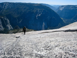 Me approaching the summit of Half Dome