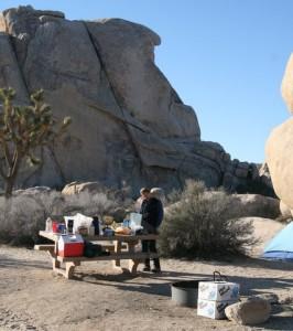 Sharing campsites