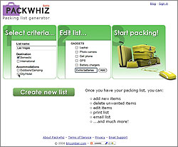 Pack Whiz List Generator
